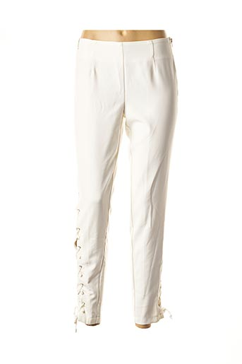 Pantalon 7/8 blanc DANIELA DALLAVALLE pour femme