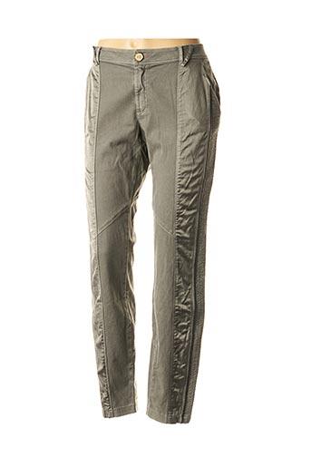 Pantalon casual vert DANIELA DALLAVALLE pour femme
