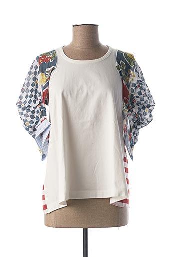 T-shirt manches longues bleu HIGH pour femme