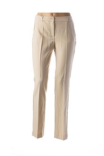 Pantalon chic beige CLASS INTERNATIONAL FX pour femme