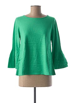 Pull col rond vert RICK CARDONA pour femme