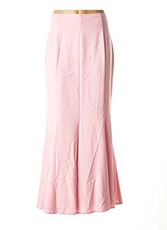 Jupe longue rose ASHLEY BROOKE pour femme