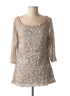 Top beige ASHLEY BROOKE pour femme