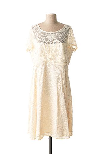Robe mi-longue beige ASHLEY BROOKE pour femme