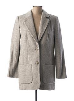 Manteau long gris BEST CONNECTIONS pour femme