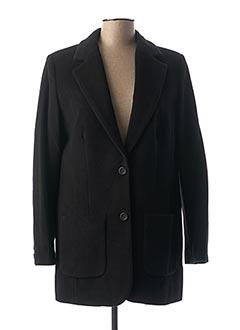 Manteau long noir BEST CONNECTIONS pour femme