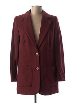Manteau long rouge BEST CONNECTIONS pour femme
