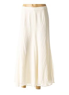 Jupe mi-longue blanc ASHLEY BROOKE pour femme