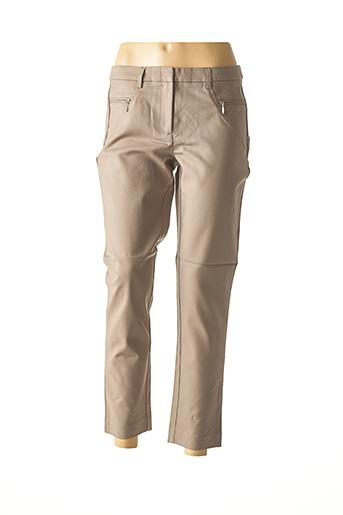 Pantalon chic gris ASHLEY BROOKE pour femme