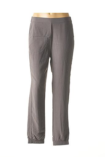 Pantalon casual gris ASHLEY BROOKE pour femme