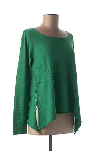 T-shirt manches longues vert BEST CONNECTIONS pour femme