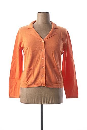 Gilet manches longues orange BEST CONNECTIONS pour femme