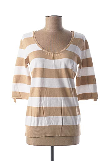 Pull col rond beige BEST CONNECTIONS pour femme