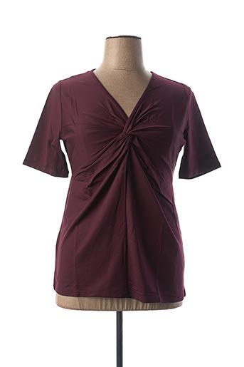 T-shirt manches courtes rouge BEST CONNECTIONS pour femme