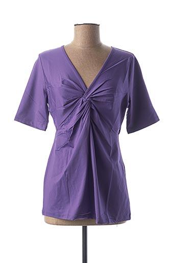 T-shirt manches courtes violet BEST CONNECTIONS pour femme
