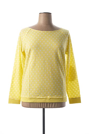Sweat-shirt jaune BEST CONNECTIONS pour femme