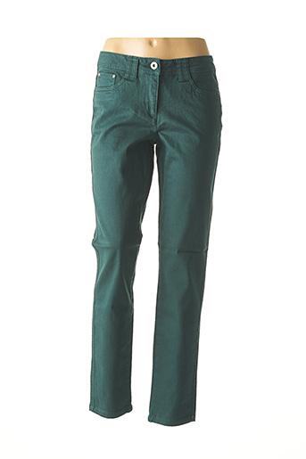 Jeans coupe slim vert HEINE pour femme