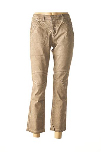 Pantalon casual marron BEST CONNECTIONS pour femme
