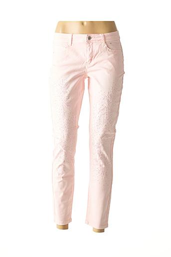 Pantalon casual rose HEINE pour femme