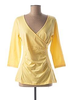 T-shirt manches longues jaune HEINE pour femme