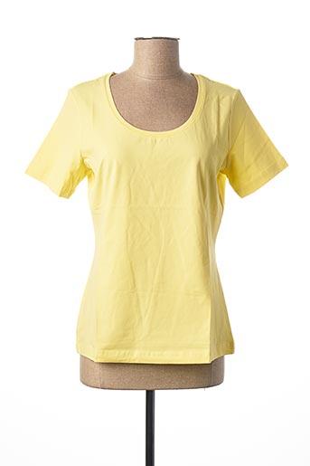 T-shirt manches courtes jaune HEINE pour femme