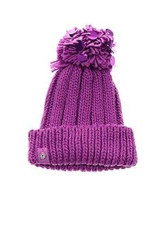 Bonnet violet LOEVENICH pour femme