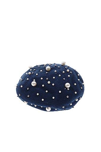 Bonnet bleu ALESSANDRO pour femme