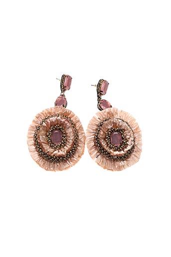 Boucles d'oreilles rose HEINE pour femme