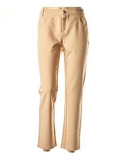 Pantalon casual beige STREET ONE pour femme