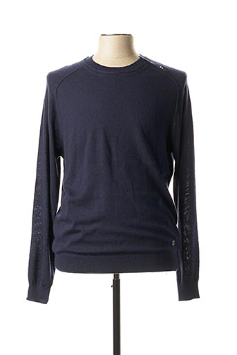 Pull col rond bleu GAUDI pour homme