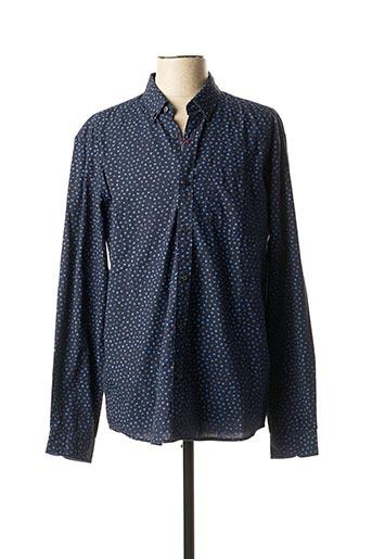 Chemise manches longues bleu S.OLIVER pour homme