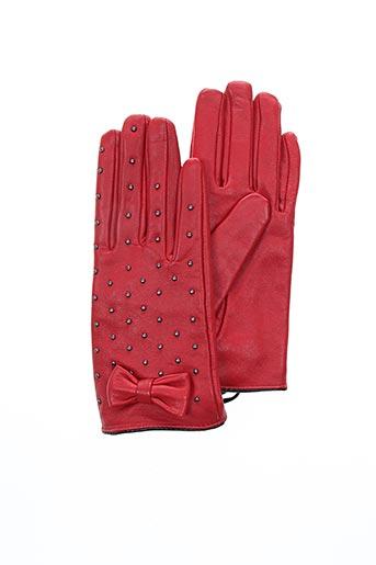 Gants rouge MORGAN pour femme