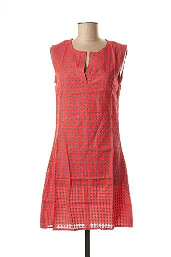Robe mi-longue rouge BAMBOO'S pour femme
