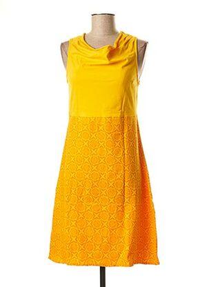 Robe mi-longue jaune BAMBOO'S pour femme