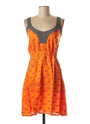 Robe mi-longue orange BAMBOO'S pour femme