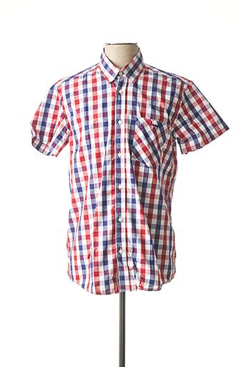 Chemise manches courtes rouge ARISTOW pour homme