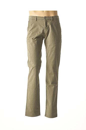 Pantalon casual vert BRUNO SAINT HILAIRE pour homme