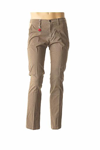 Pantalon casual beige MANUEL RITZ pour homme