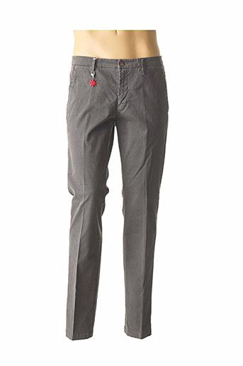 Pantalon casual gris MANUEL RITZ pour homme