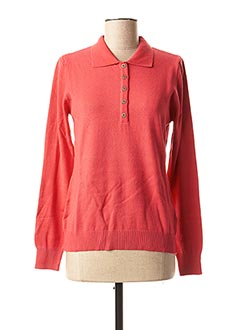 Pull col chemisier rouge TELMAIL pour femme