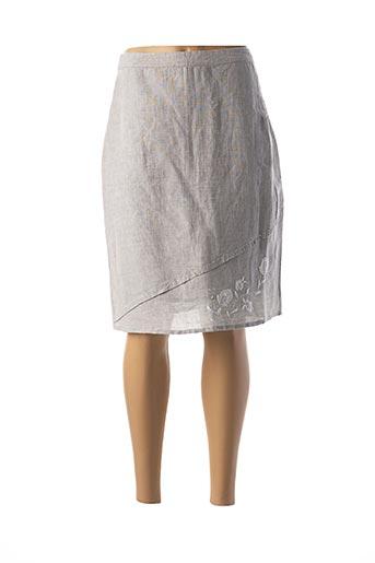 Jupe mi-longue gris AURA BY FIGURE LIBRE pour femme