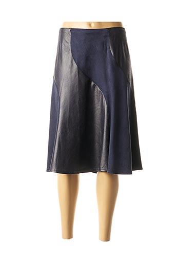 Jupe mi-longue bleu DIANE LAURY pour femme