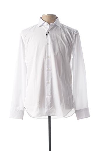 Chemise manches longues blanc CARLOS CORDOBA pour homme