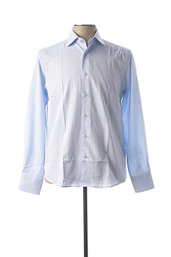 Chemise manches longues bleu CARLOS CORDOBA pour homme