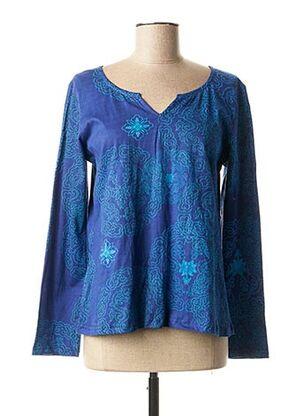 T-shirt manches longues bleu ALLER SIMPLEMENT pour femme