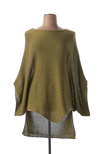 Pull tunique vert MAT. pour femme