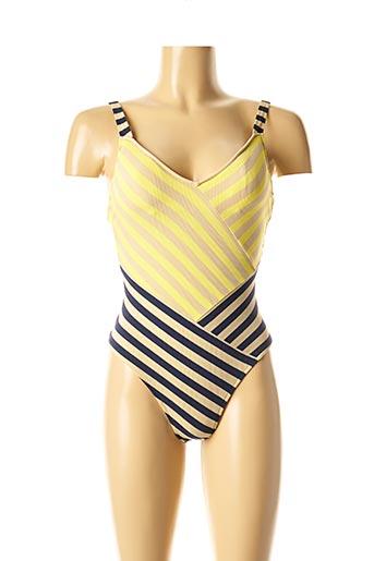 Maillot de bain 1 pièce jaune ANDRES SARDA pour femme