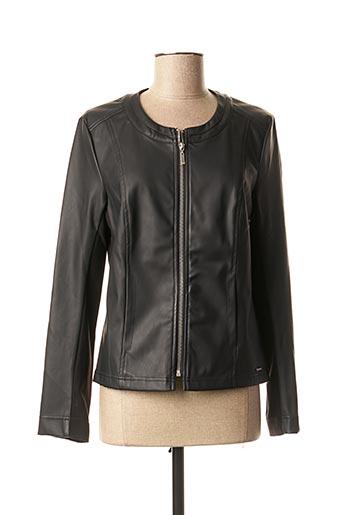 Veste simili cuir noir DIANE LAURY pour femme