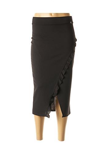 Jupe mi-longue noir DANIELA COOL pour femme