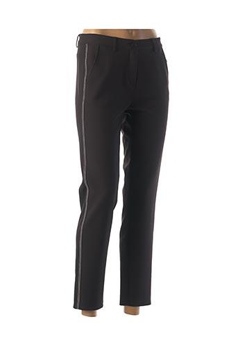 Pantalon 7/8 noir FRANK WALDER pour femme
